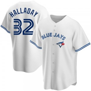 Youth Toronto Blue Jays Roy Halladay Replica White Home Jersey