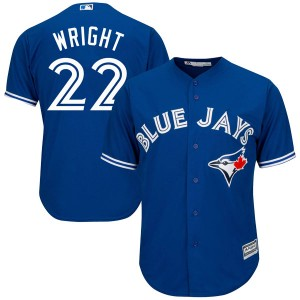 Youth Majestic Toronto Blue Jays Brett Wright Authentic Royal Blue Cool Base Alternate Jersey
